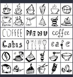 Coffee hand draw 2 vector image