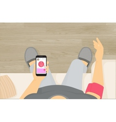 Wireless blood pressure monitor mobile app vector