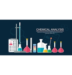 Research concept chemical banner background cover vector