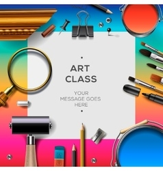 Art class template creativity concept vector