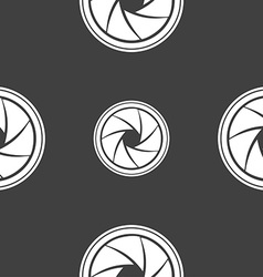 Diaphragm icon aperture sign seamless pattern on a vector