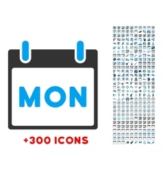 Monday flat icon vector