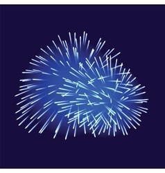 Blue fireworks on dark background vector
