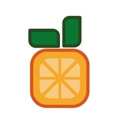 Pixel orange icon healthy food design vector