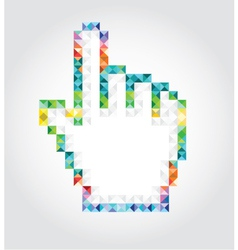 Abstract pixalated hand vector