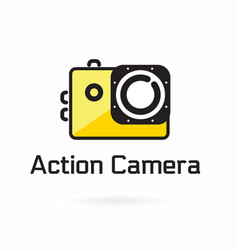 action camera icon logo element vector image vector image