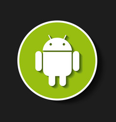 Android classic emblem icon vector