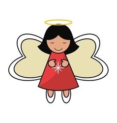 Angel of christmas season design vector