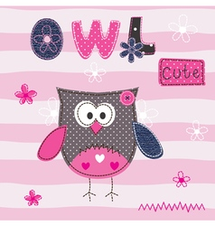 Background with cute owl vector
