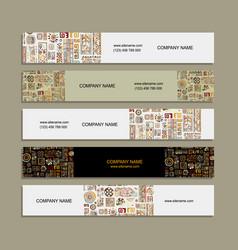 banners design ethnic handmade ornament vector image