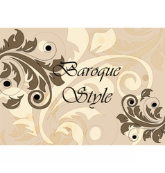 Baroque classic style background vector