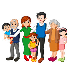 big family together vector image vector image