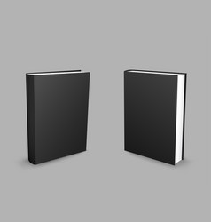 Black closed books gray background vector