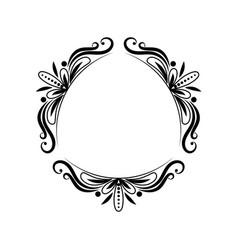 Black triangular classic vintage frame vector