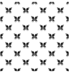 Butterfly with ornament on wings pattern vector