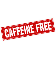 Caffeine free square stamp vector