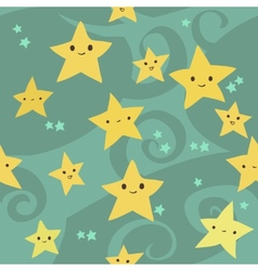 cartoon flat Stars pattern vector image vector image