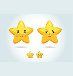 cartoon star character vector image