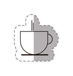 coffee cup beverage hot line vector image vector image