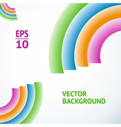 Colorful abstract composition vector image vector image