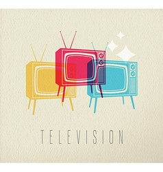 Colorful television concept background vector