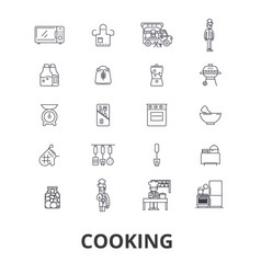 cooking kitchen food chef chef class baking vector image