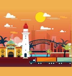 Famous landmark in australia flat design vector