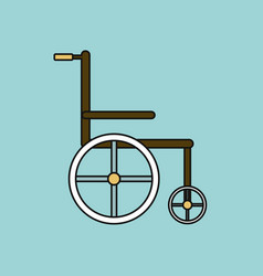 Flat icon design collection medical wheelchair vector