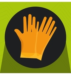 Glove protection tool icon vector