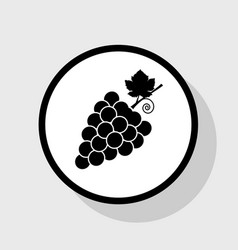 Grapes sign flat black icon vector