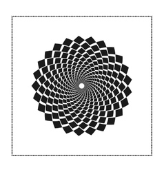 Graphic web of black rhombus in concentric circle vector