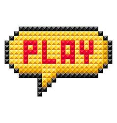 Icon bit play vector