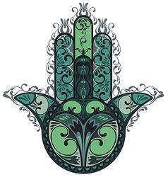 Indian hand drawn hamsa vector image vector image