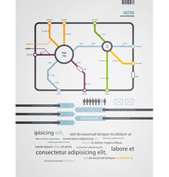 infographics subway in the old style vector image