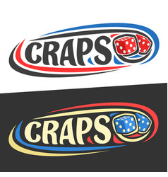 Logo for craps gamble vector
