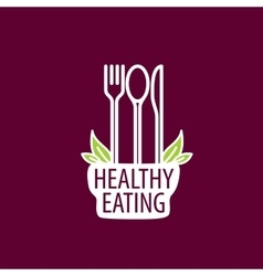 logo healthy eating vector image vector image