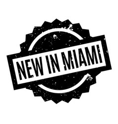 New in miami rubber stamp vector