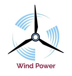 Power making wind turbine company logo vector