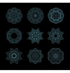 Round ornament art vector image