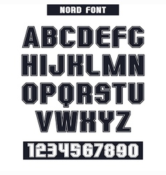 Sans serif font with the contours vector
