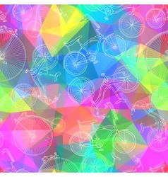 Seamless bicycle background vector image