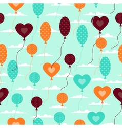 Seamless pattern with balloons in retro style vector image vector image