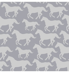Seamless pattern with stylized horses vector image