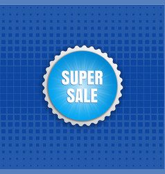 Super sale round sticker color banner vector