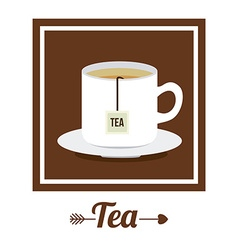 Tea design vector image