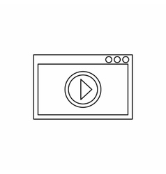 Video movie media player icon outline style vector image