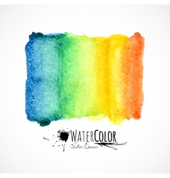 Watercolor bright colors painted isolated banner vector image