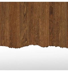 Wooden Panel With Paper vector image