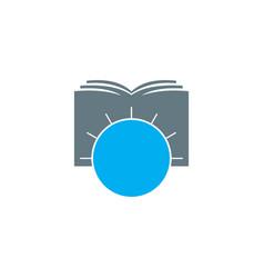 world book logo design vector image