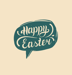 happy easter in speech bubble greeting vector image